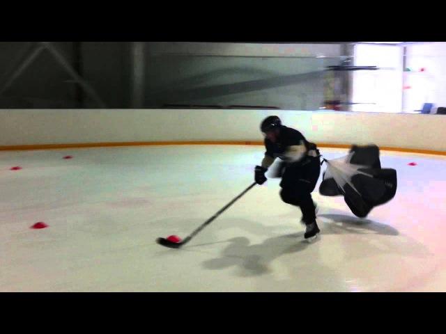 хоккей индивидуально рф Павел Стефанишен Упражнение на скорость с виражом стартовая скорость