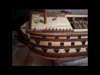 . victory model ship by bill