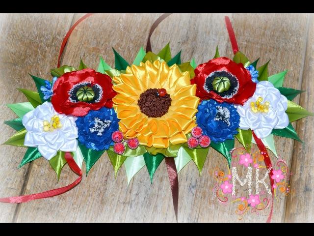 DIY Композиція з квітів на пасхальний кошик частина 1 перша