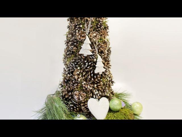 Как сделать елку из шишек своими руками и украсить свой дом к новому году.
