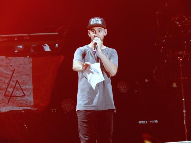 Linkin Park Mike talking italian Milano @Ippodromo 10 06 14