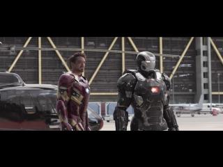 Первый Мститель:Противостояние/Битва в аэропорту часть 1