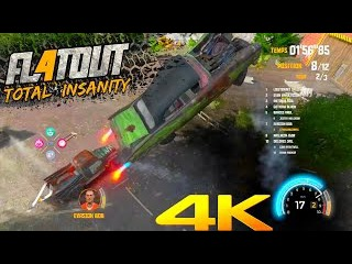 FlatOut 4 : Total Insanity crash Compilation 4K 2017 (C4 , Uppercut)