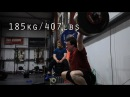 185kg 407lbs Snatch Training Session in Crossfit Mallow Scrap Footage part 3
