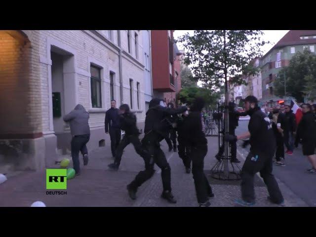 """Jena Mehrere Antifa Anhänger bei Protest gegen """"Thügida verhaftet"""