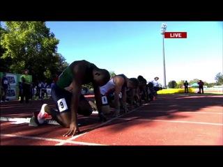 Akani Simbine runs  (+0.2) 100m Semifinal SA Championships 2017