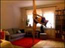 Pole dancing split moves practice and oversplits