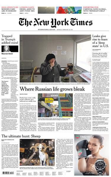 International New York Times 20 February 2017 FreeMags