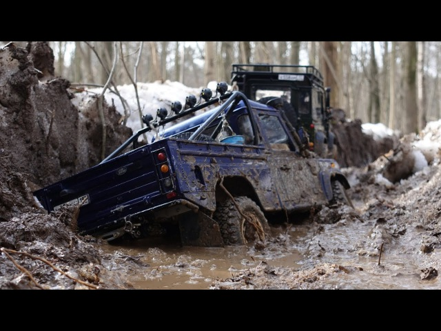 По дороге лесовозов Land Rover defender 90 WildBrit defender 110 HCPU