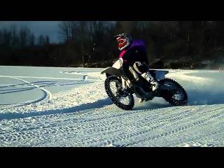 Мотокросс ендуро зимой   Motocross   Enduro winter