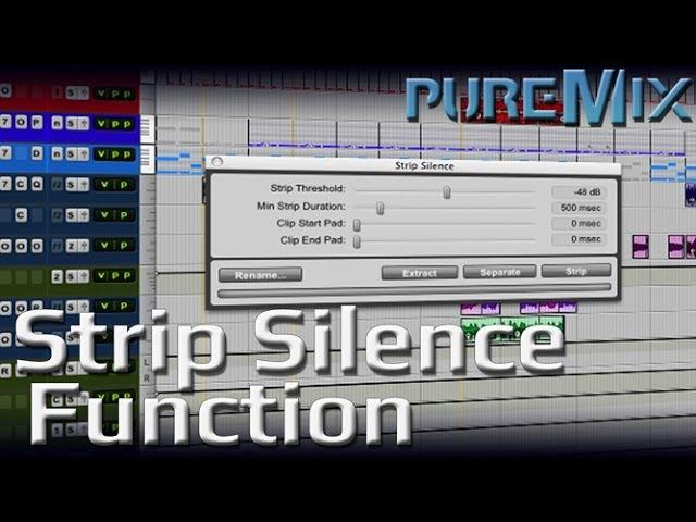Pro Tools Strip Silence
