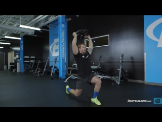 Walking Lunge with Weight Overhead   Exercise Guide