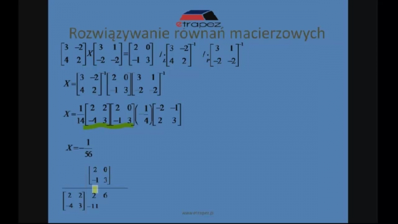 Lekcja 4 Równania macierzowe chomik reflex