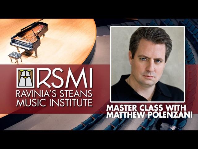 RSMI Master Class with Matthew Polenzani