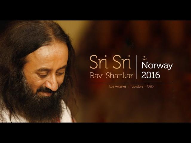 24 10 16 Медитация в Осло с Шри Шри Рави Шанкаром 24 мин