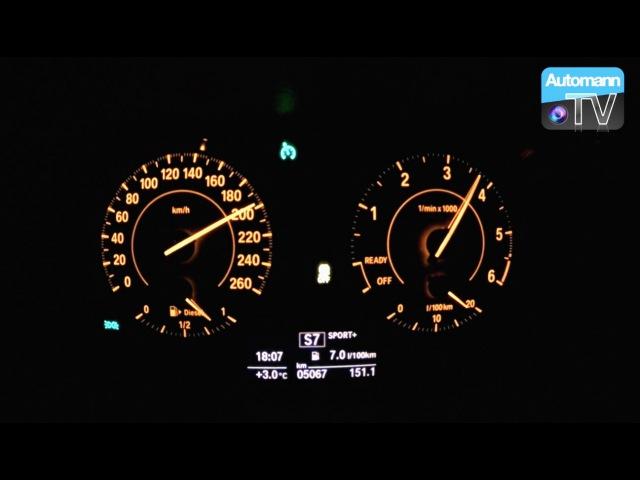 2016 BMW 120d LCI (190hp) - 0-200 km/h acceleration (60FPS)