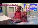 Супер Санта и принцесса Рапунцель Распаковка Стильная кукла Disney Layer n Style Rapunzel