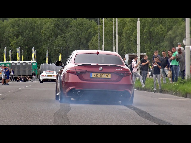 510HP Alfa Romeo Giulia Quadrifoglio - Launches, Revs, Accelerations!