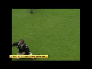 Накал страстей английского футбола. Паоло Ди Канио показывает свой нрав