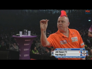 Jelle Klaasen vs Peter Wright (European Darts Grand Prix 2017 / Semi Final)
