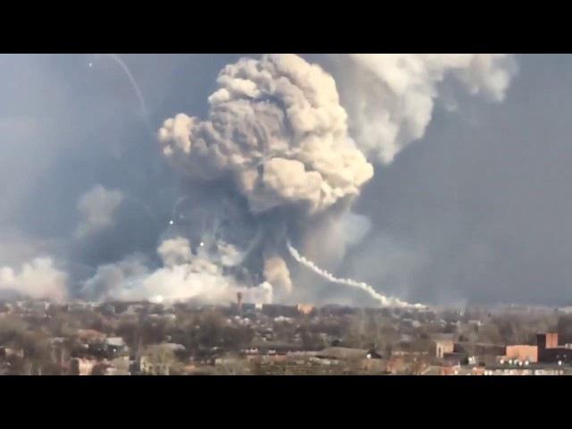 Ачинск Взрыв военных складов
