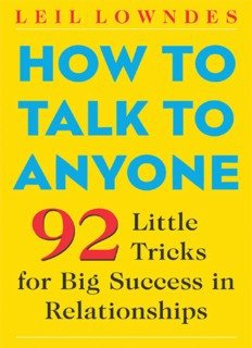 How-to-Talk-to-Anyone-92-Little-Tricks-for-Big-Success-in-