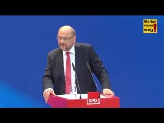 """Schulz - """"In eine Regierung von Merkel werde ich nie ..."""""""