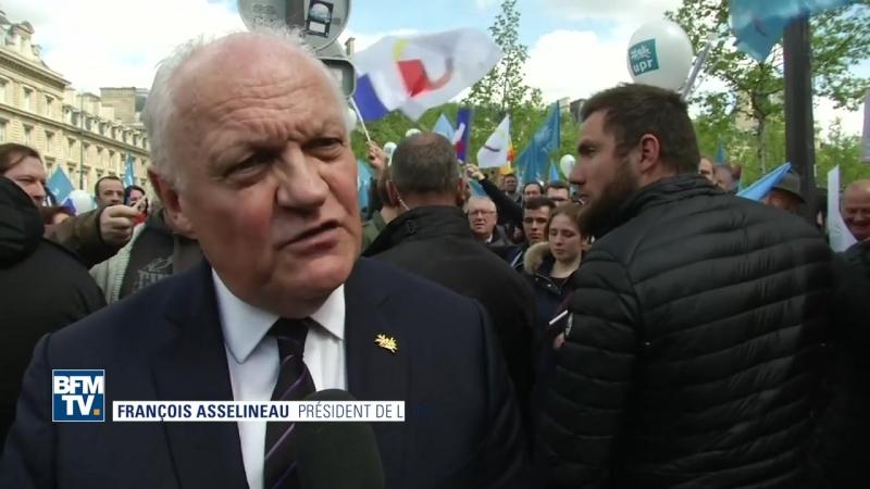 Défilé de lUPR François Asselineau réaffirme sa volonté de