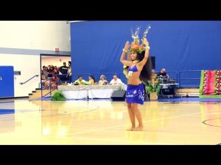 Amazing Polynesian Dance. Melanie Amen dancing Tahitian Ori at the Hura Tahiti Dance Competition.