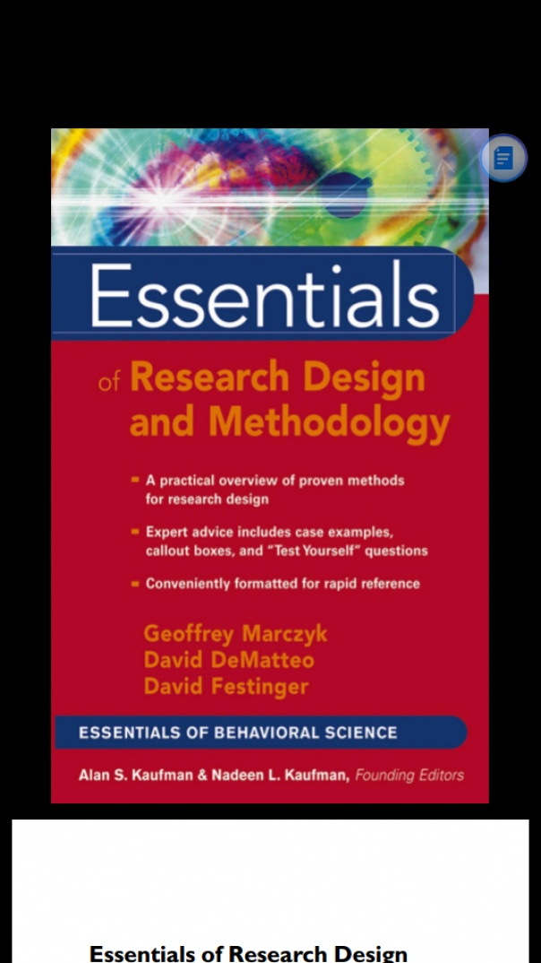 Wiley  Essentials Of Research Design And Methodology