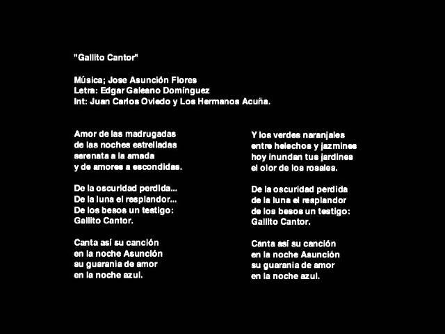 Gallito Cantor José A Flores Edgar Galeano