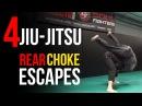 Top 4 Jiu-Jitsu Techniques to Escape Rear Choke