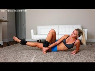 Упражнения для ягодиц * thigh gap sexy booty workout