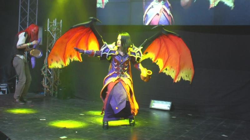 Косплей Чернокнижница World of Warcraft СТАРКОН ХЭЛЛОУИН 2017