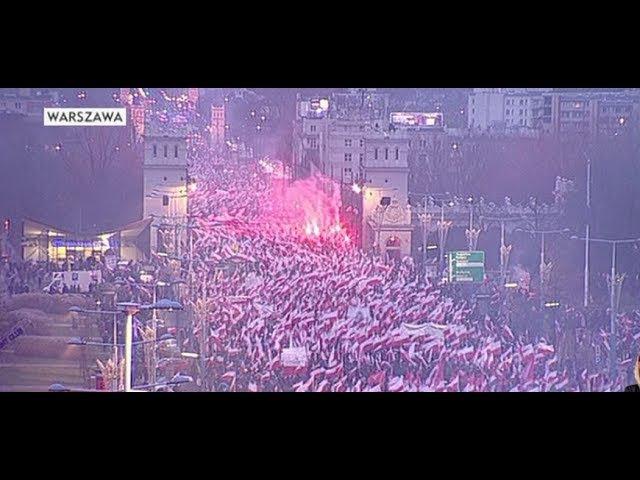 Marsz Niepodległości - Warszawa 11-11-2017 (lepsza jakość HD )