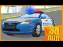 Police Car Partol with The Tow Truck in the City of cars - Cars cartoon for kids children