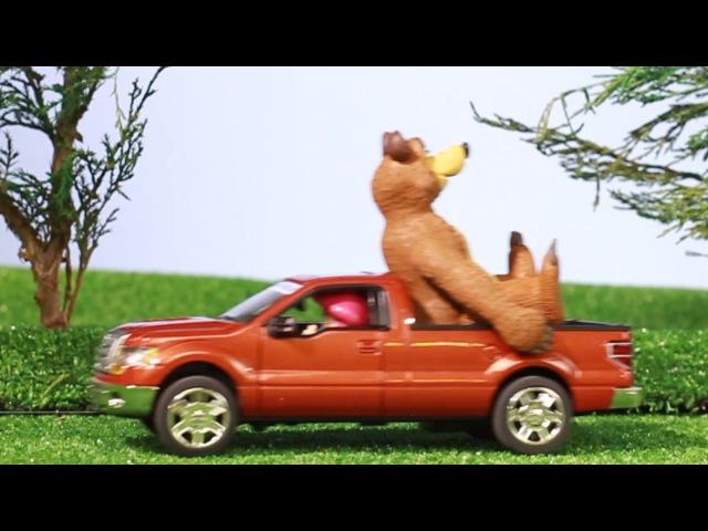 Мультик про машинки Маша и Медведь покупают новую машину МанкиМульт