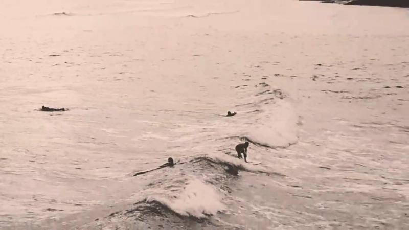 Sumbawa dron surfing