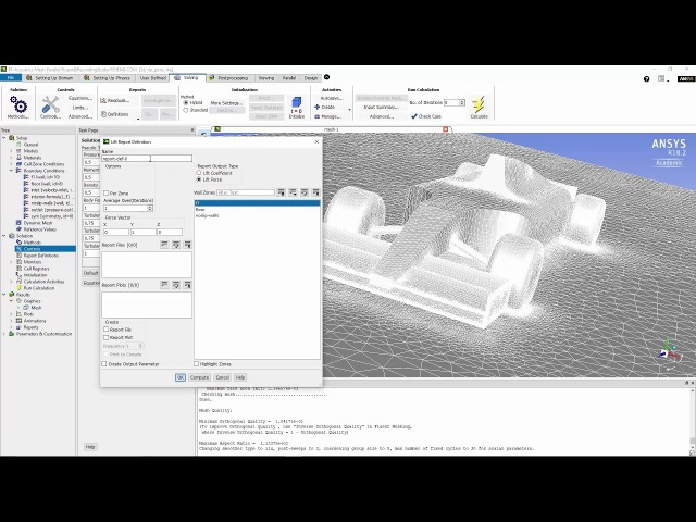 ANSYS Fluent Aero Acoustic Simulation of a Noise Generated by an FSAE Car