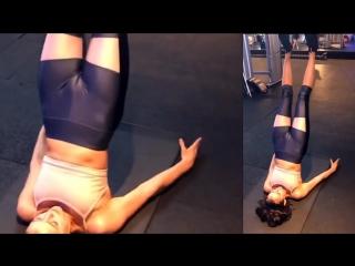 Nina dobrev cameltoe workout
