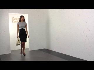 Vesper Ayla Grey Two Tone Cap Sleeve Pencil Dress