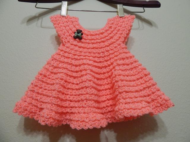 Vestido Crochet 0 3 meses y cualquier talla parte 1 de 2