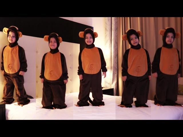Пять маленьких Обезьянок Детские песенки на английском Five Little Monkeys Jumping On The Bed