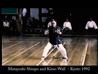 Matayoshi Shinpo and Kimo Wall demonstrate kobudo at the Butokukai 1992