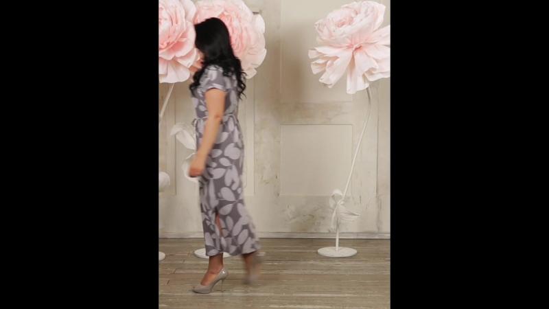 Платье «ДАНИЕЛЛА» Цвет серый Размеры 46-60 (Интернет-магазин СОНЛАЙН)
