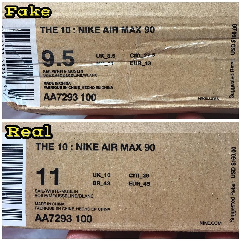 OFF WHITE x NIKE AIR MAX 90 как отличить подделку. | VK