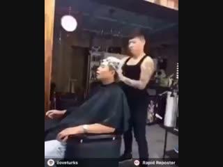 Когда у парикмахера хорошее настроение