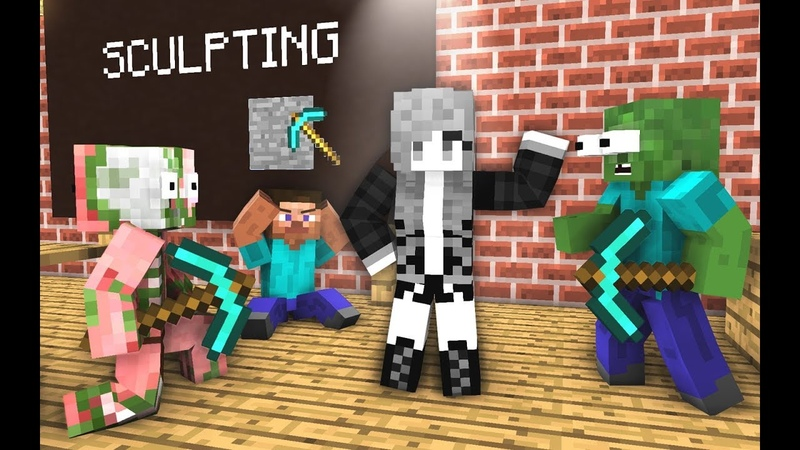 Monster School Sculpting Minecraft Animation