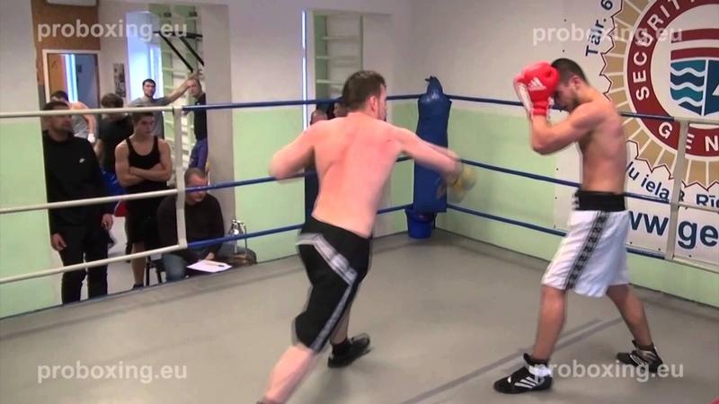 Dmitrijs Odinokijs – 77,5 kg. VS Marcis Bumbiers – 76,0 kg. 10.01.2015 proboxing.eu