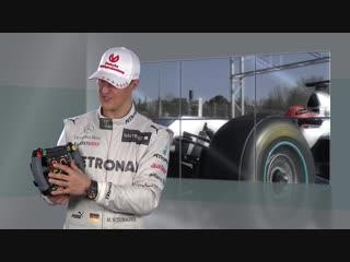 Michael schumacher talks about his steering wheel